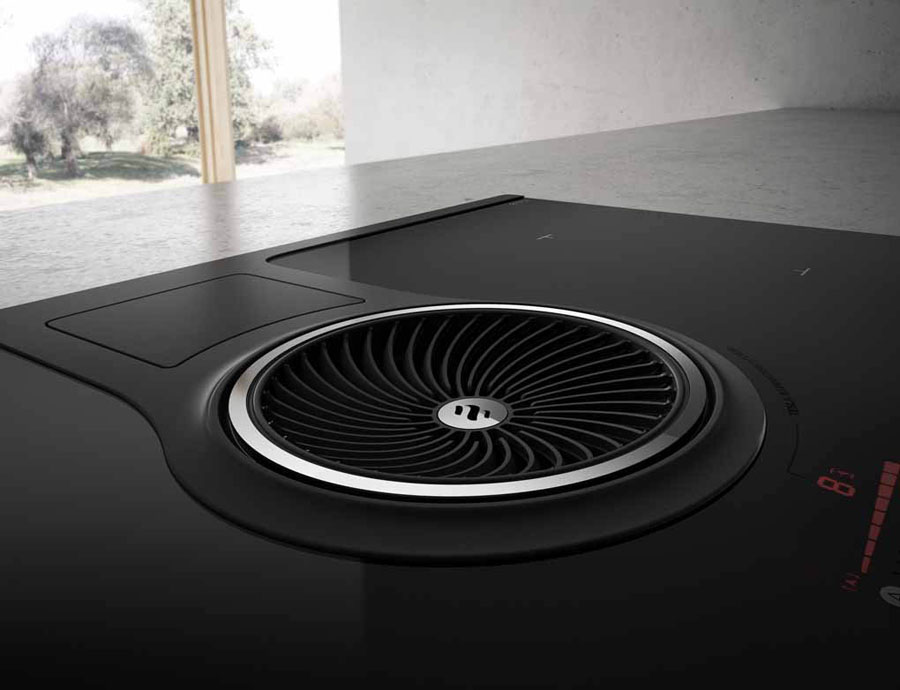 NikolaTesla of Elica: fan and hob in an only appliance