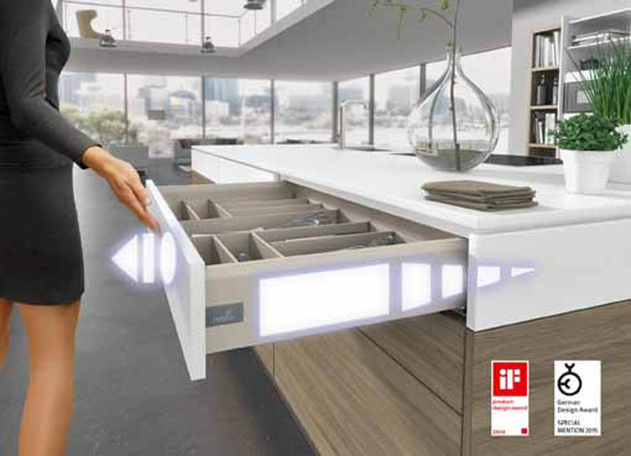 Push to open Silent for ArciTech drawers by Hettich