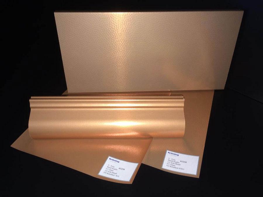 Foglie di rivestimento Hybrid Real Metal Foils di Kröning 1