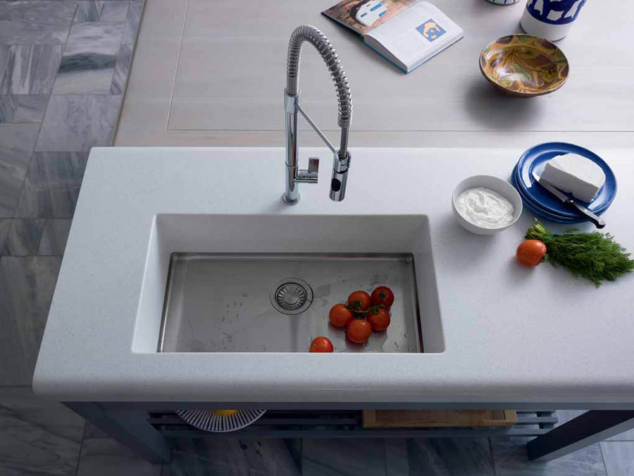 A kitchen totally designed by Franke: from the sink to the tailor-made worktop 3
