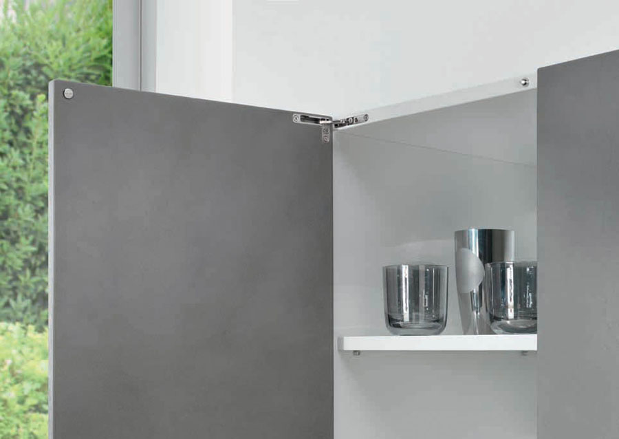Hinge Air with push self-opening system by Salice