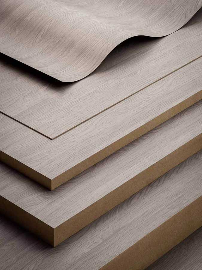 Impronte by Fantoni:  the collection of finishes for CPL laminates and melamine faced panels 563