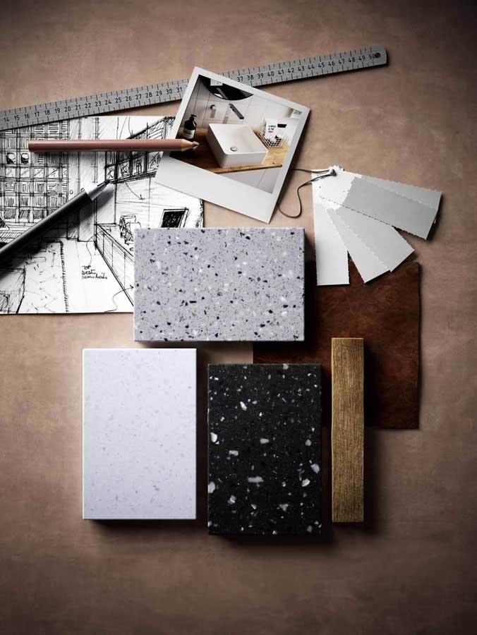 Collezione Lucia, il solid surface HI-MACS®  0