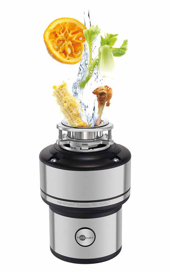 The new 3N1 black nozzle and the Evolution 250 garbage disposal of InSinkErator  2