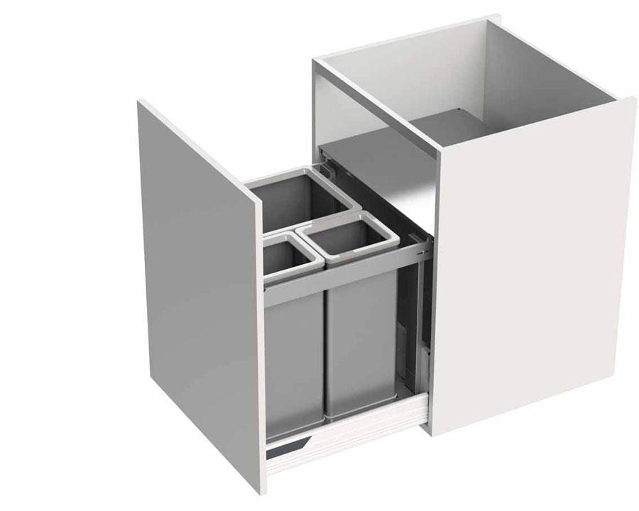 Kit per la raccolta differenziata P-one di Tecnoinox 1