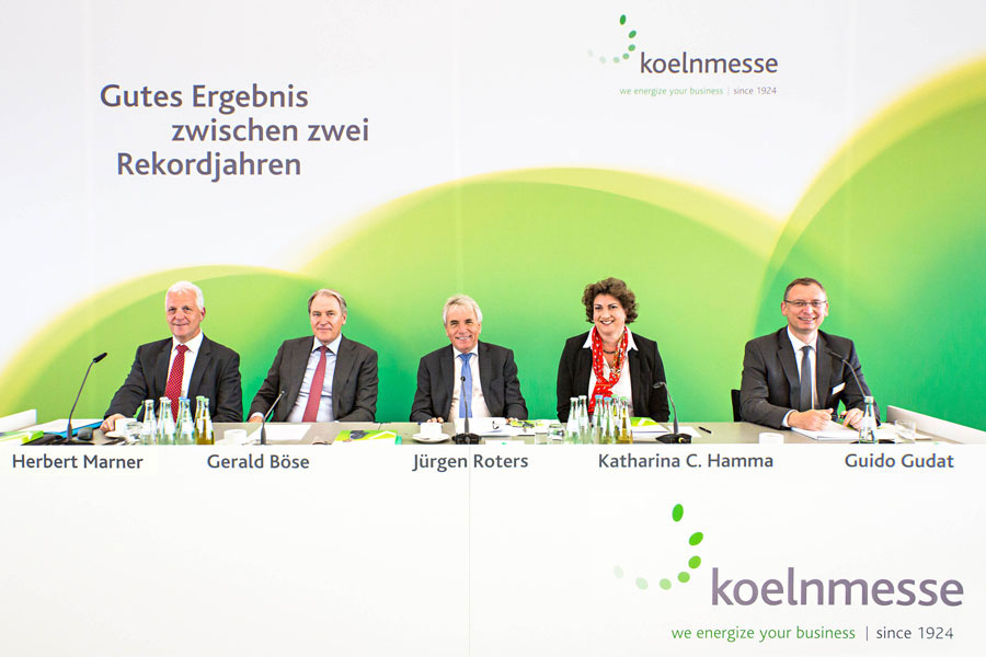 Koelnmesse's business results for 2014:  good results between two record years