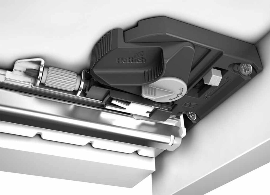 The Quadro 4D drawer runner by Hettich 634