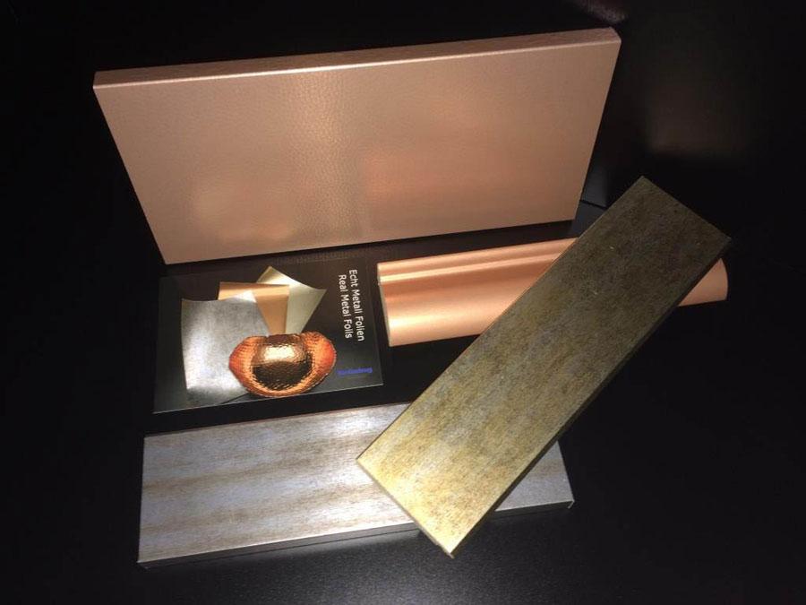 Foglie di rivestimento Hybrid Real Metal Foils di Kröning 2