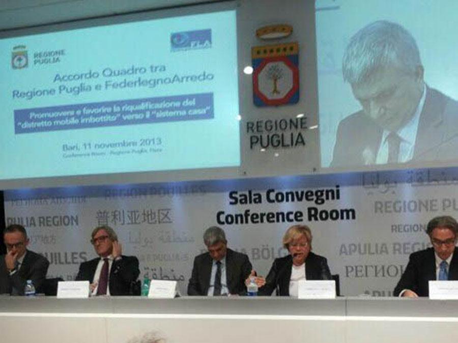 FederlegnoArredo e Regione Puglia insieme per rilanciare il distretto del mobile 0