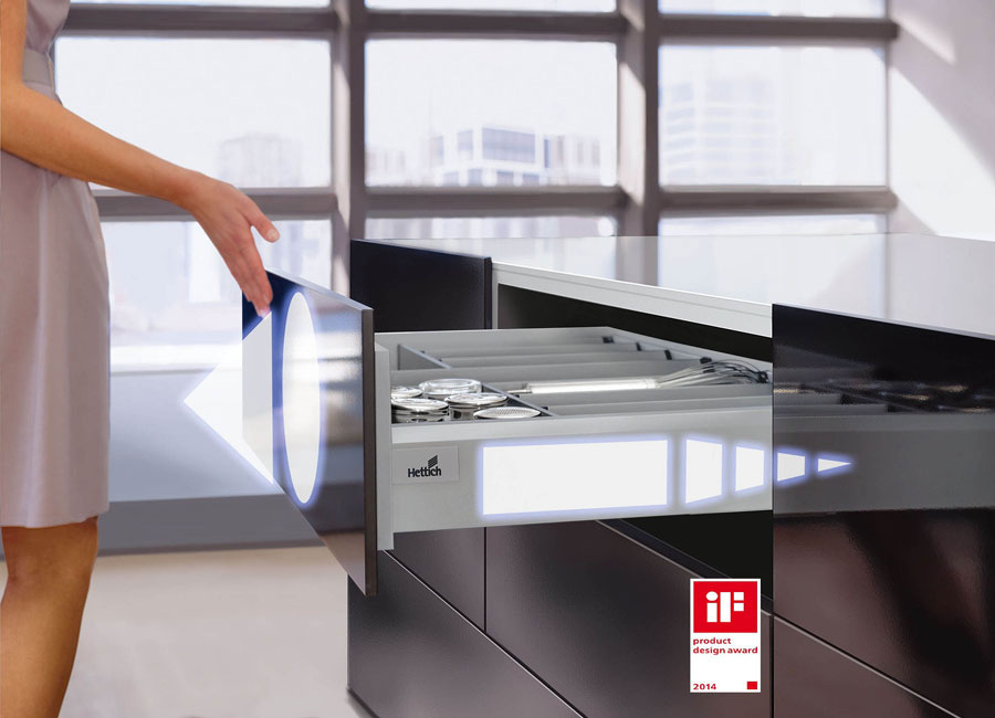 Le cerniere per mobili Hettich insignite dell'iF Product Design Award 2014