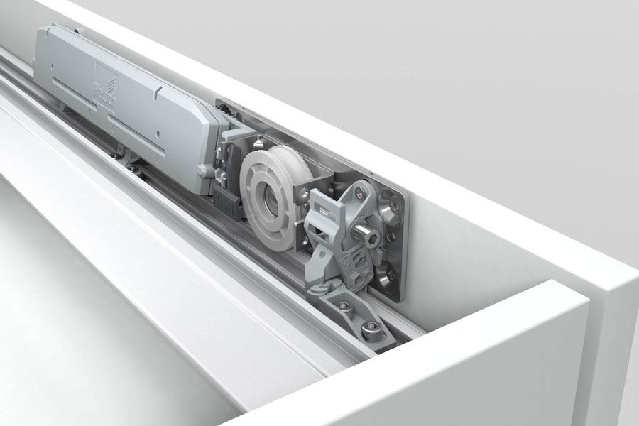 Il sistema per ante scorrevoli TopLine XL di Hettich 470