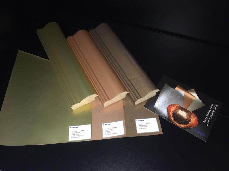 Foglie di rivestimento Hybrid Real Metal Foils di Kröning 0