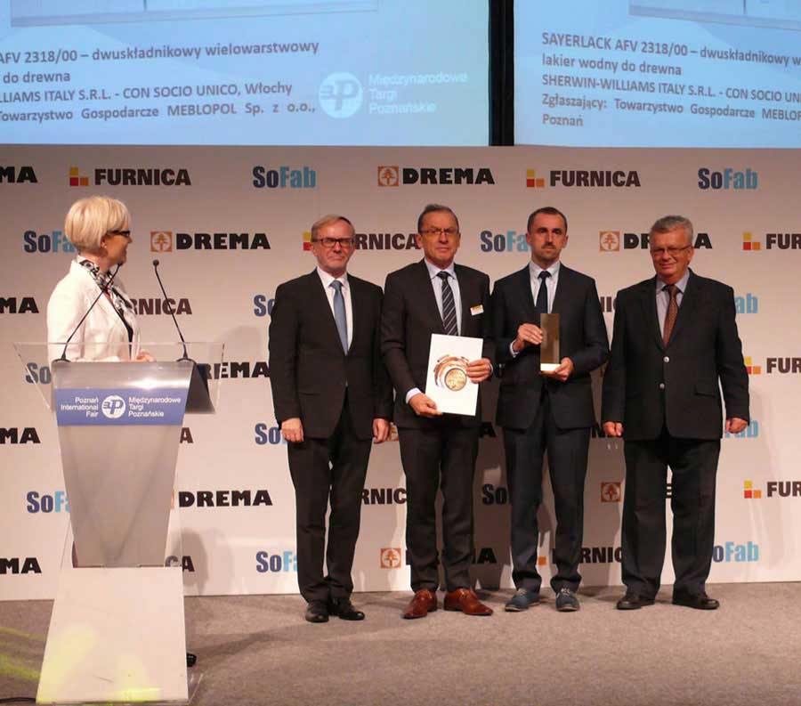 THE WATERBORNE SELF SEALER SAYERLACK AFV 2318/00 IS GOLD MEDAL WINNER AT DREMA 2015