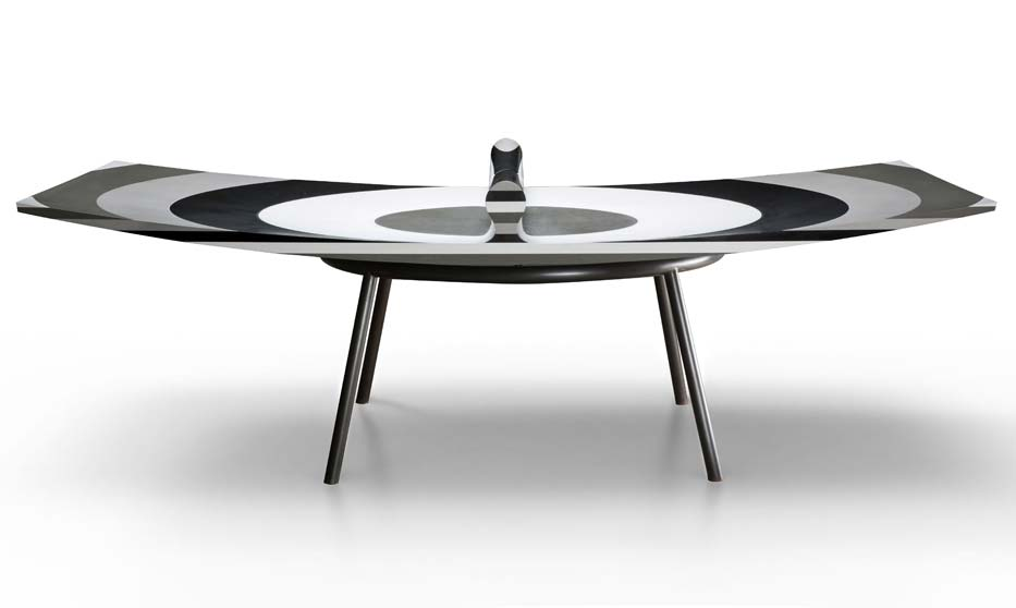 Ron Arad signs 10 LAYERS, an unusual Silestone® ping-pong table