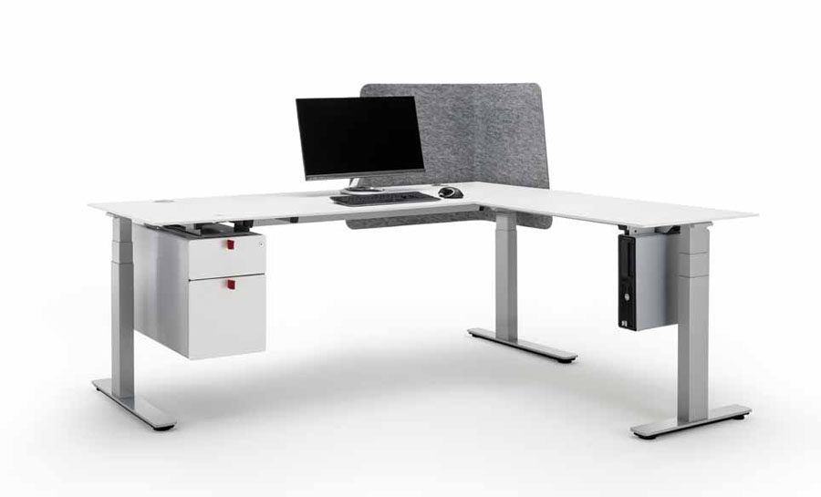 Officys table base system from  Häfele