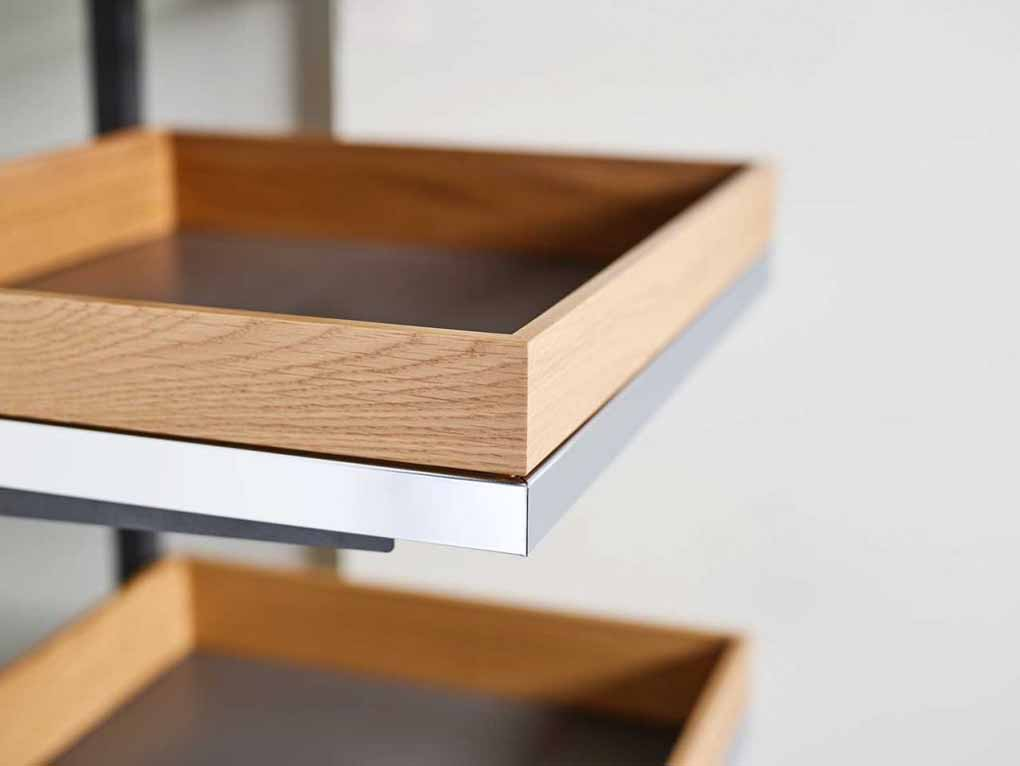 Arena select and Arena pure of Kesseböhmer for the interior furniture kitchen