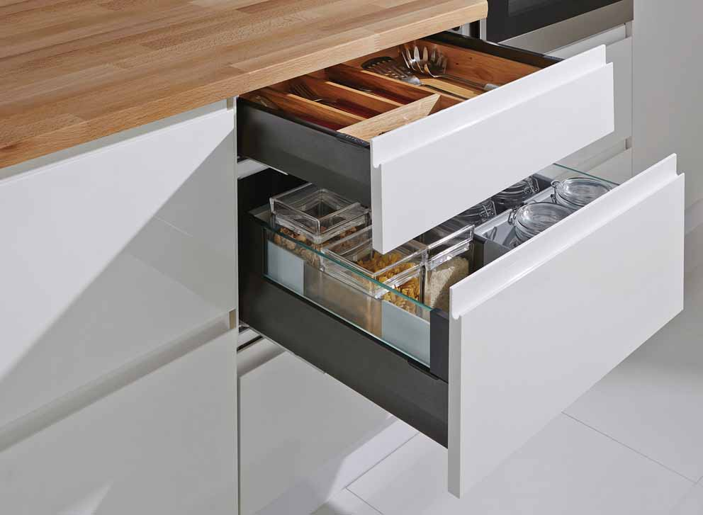 Moovit MX drawers system by Häfele: design, comfort and ease of assembly