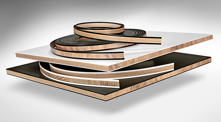 Ostermann ABS Compact-Style edges with a real wood effect