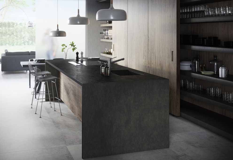 The ultra-compact Dekton® by Cosentino surface is enriched with two shades