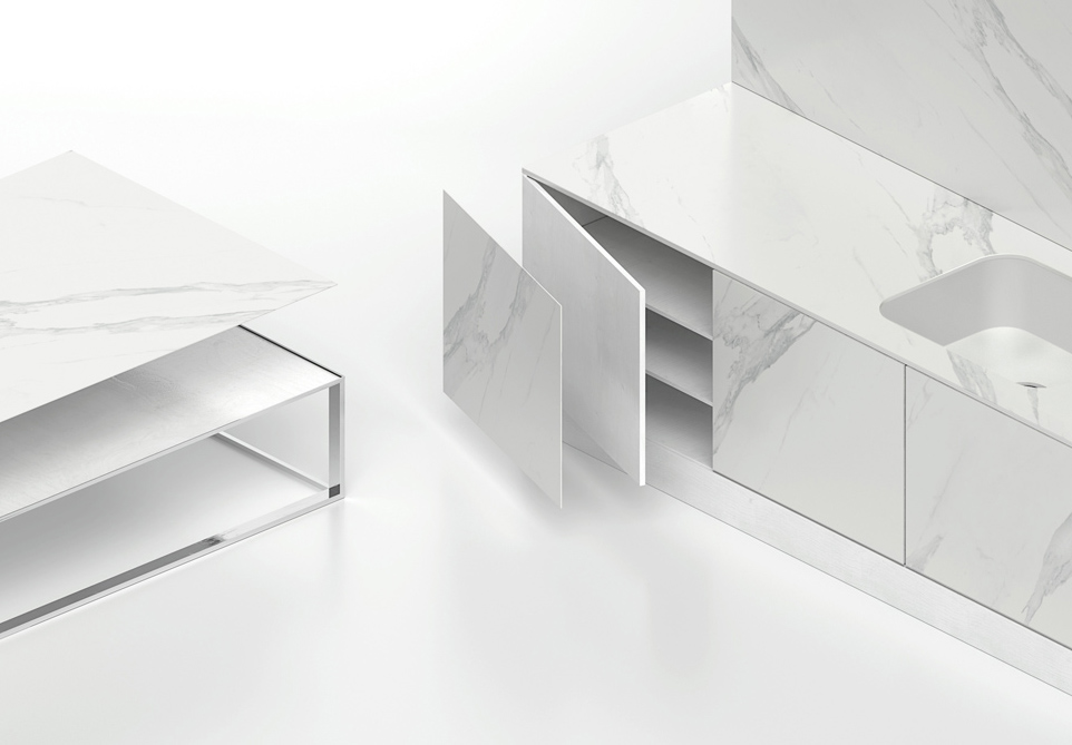 The ultra-compact Dekton® surface proposed in the new Slim format