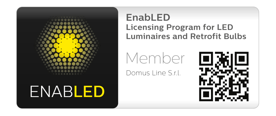 Domus Line signs the agreement with Signify for EnabLED licensing program