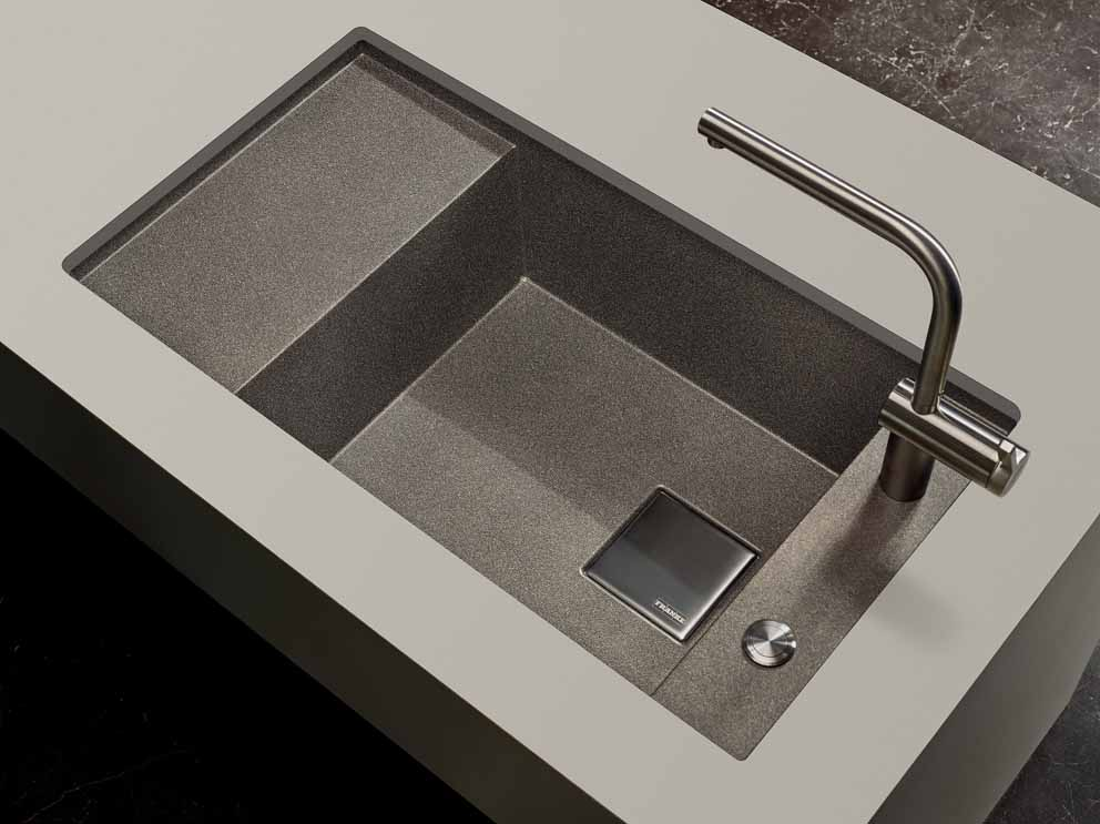 The super metallic colour collection for Franke Fragranite sinks