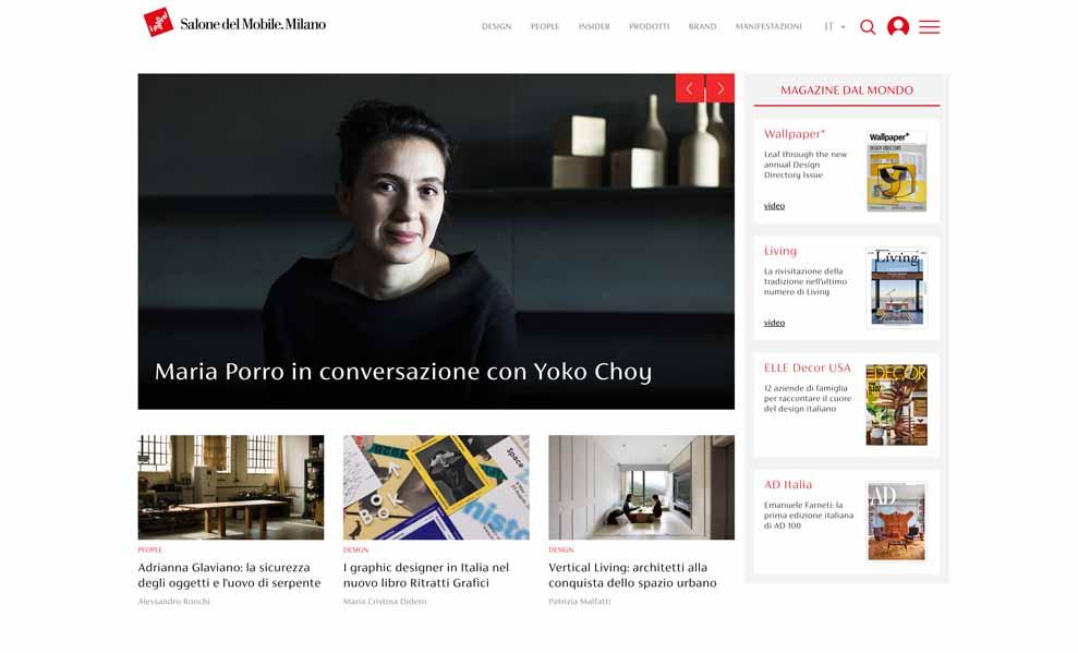 La piattaforma digitale del Salone del Mobile.Milano è ora online