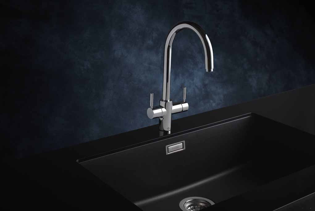 The sink-mixer J-Shape of InSinkErator: a purely italian design