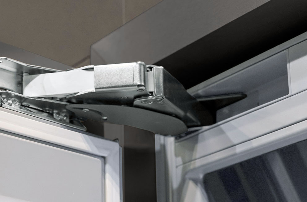 From Hettich the K05 multi-joint hinge with integrated shock absorber