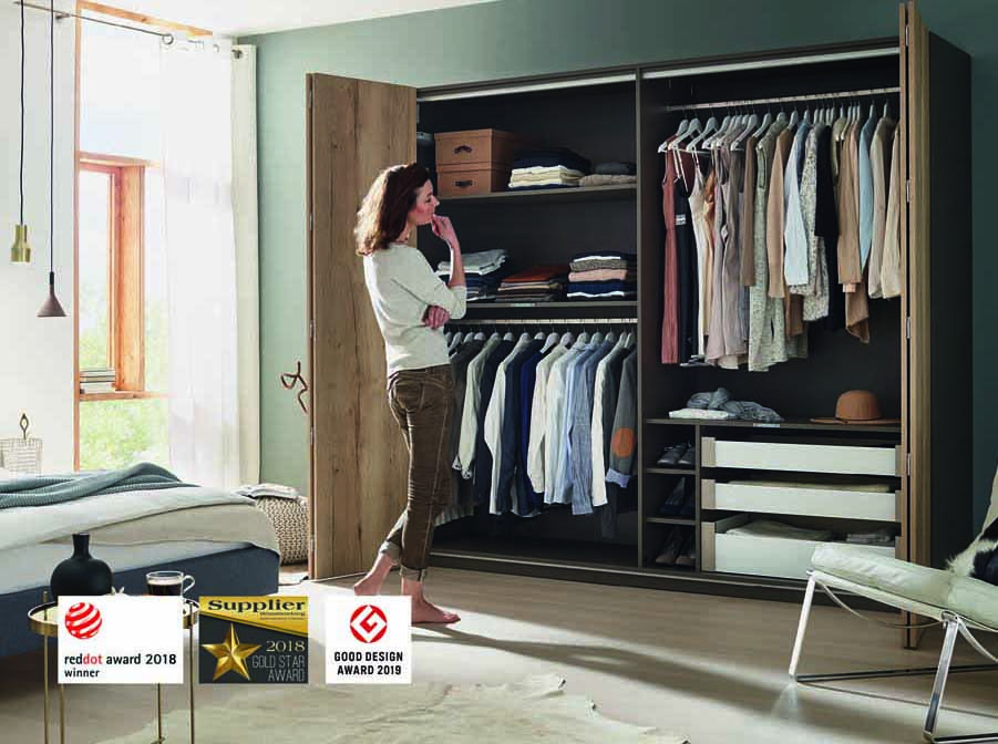 Hettich's WingLine L folding door system also received the Good Design Award