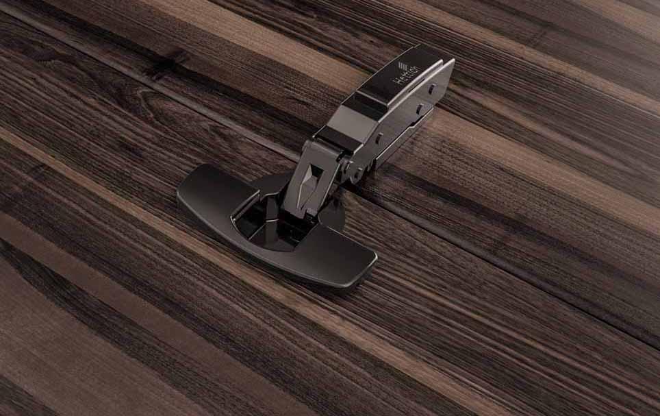 Cerniere per mobili Sensys di Hettich in nero ossidiana 10106