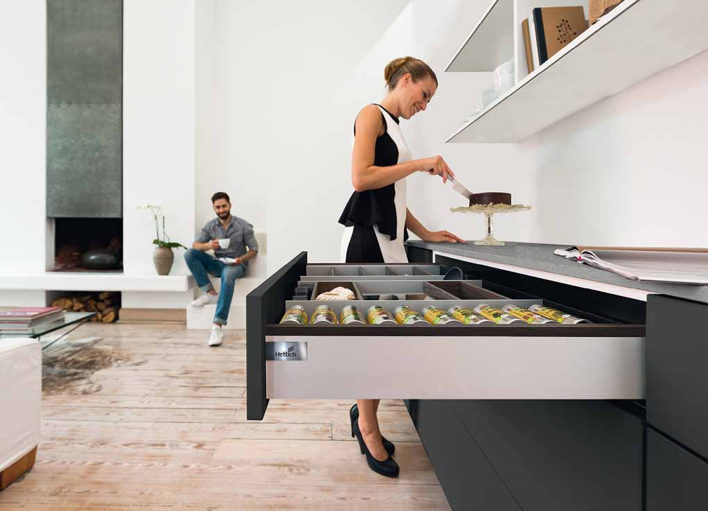 Hettich has greatly extended its drawer and runner platforms across all segments