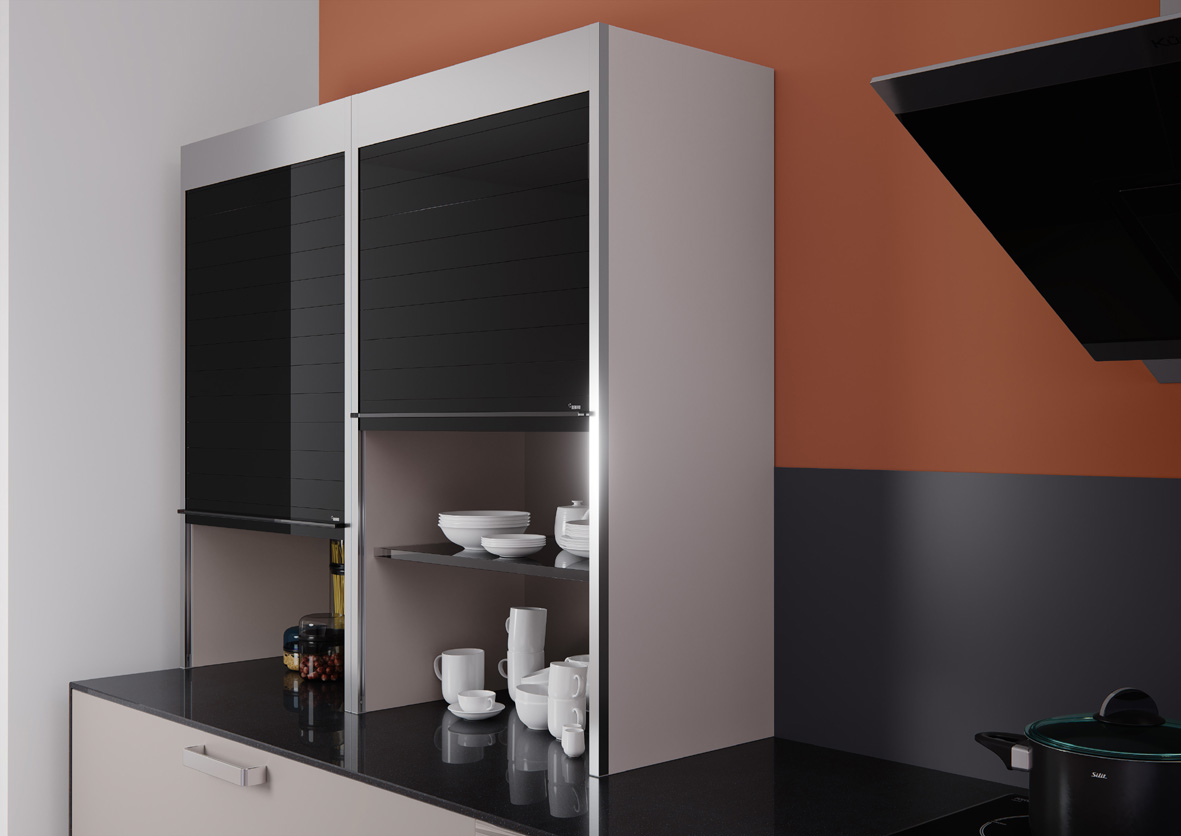Sistemi a serrandina per mobili Rauvolet di Rehau: funzionalità e design 10114