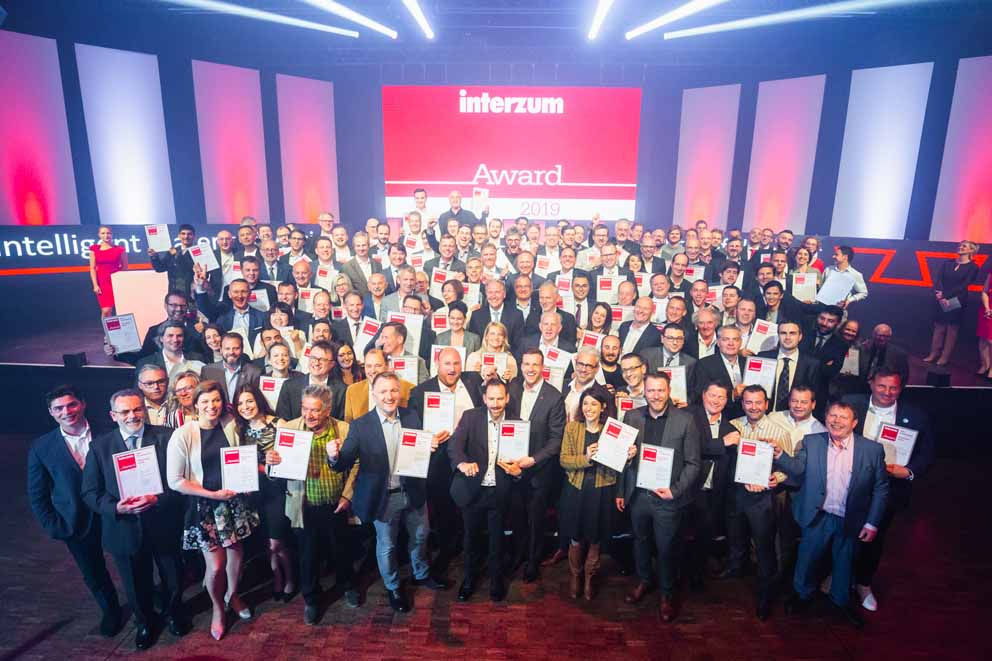 Winners of the interzum award 2019 awarded in Cologne