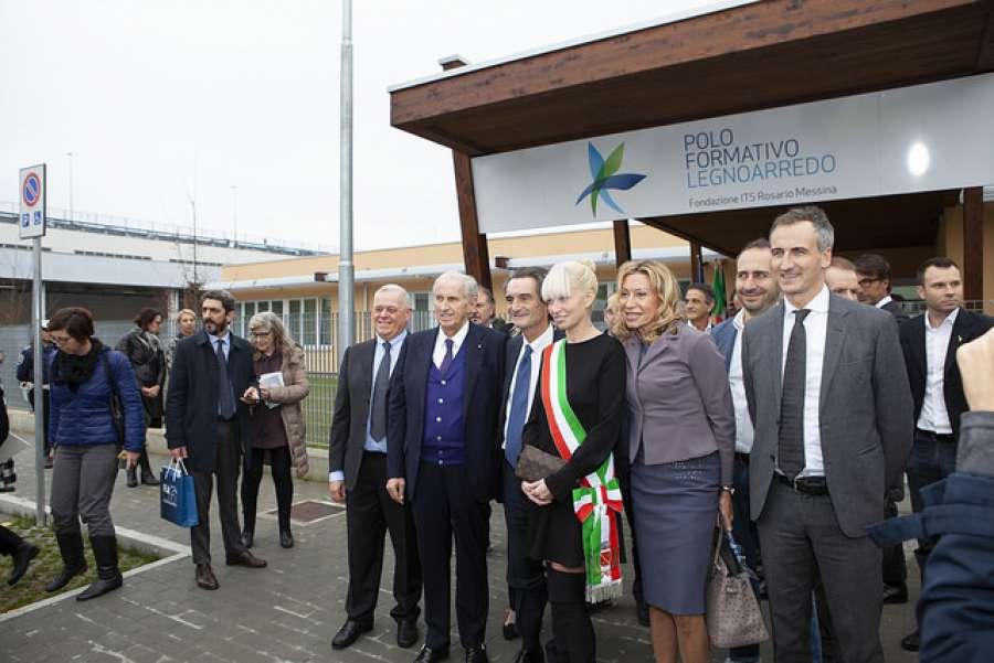 Inaugurata la nuova sede del polo formativo del legno arredo 0