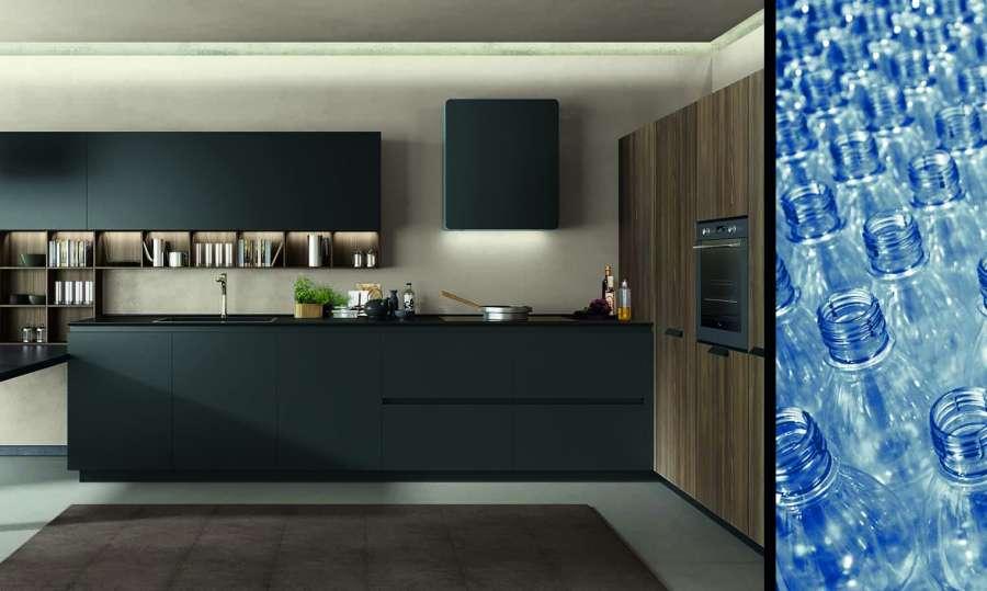 Le ante delle cucine Euromobil rivestite con Respet®, pellicola in pet riciclato  0