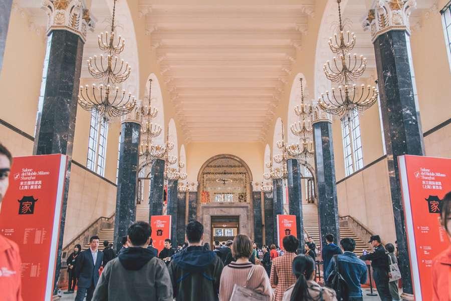 La bellissima sede del SEC dove si è svolto il Salone del Mobile.Milano Shanghai