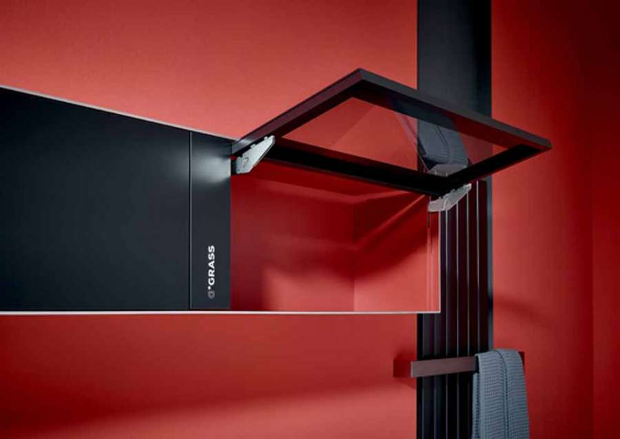 Kinvaro T-Slim by Grass: the almost invisible flap opening system for tilt and turn doors 1