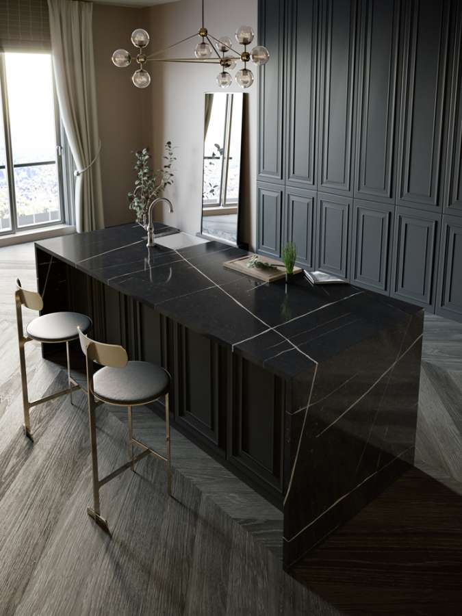 Silestone Eternal Noir to create a refined hob