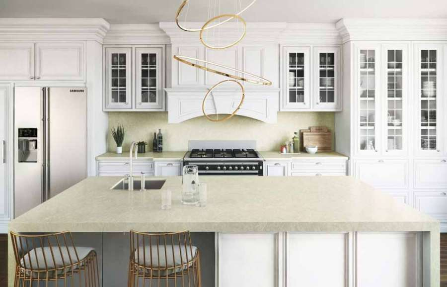Silken Pearl by Silestone offers endless insertion possibilities