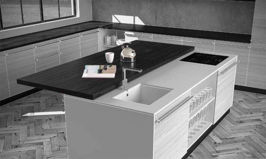 Sistema di scorrimento per tavoli Plana di STM