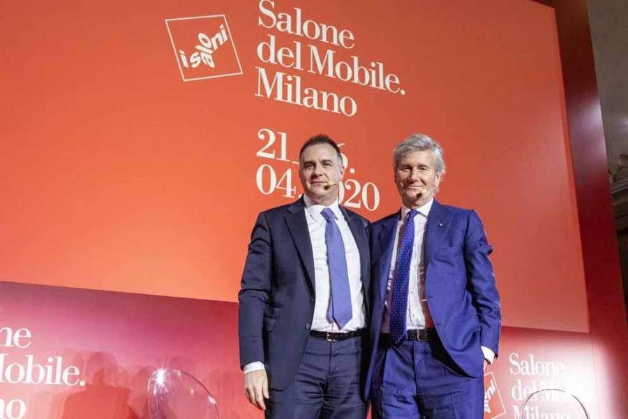 Salone del Mobile Milano 2020: Emanuele Orsini e Claudio Luti alla conferenza stampa