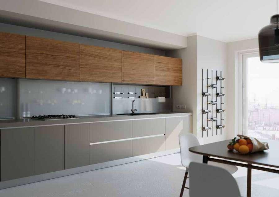 Sistema di scorrimento verticale Mover Flat di Salice, cucina