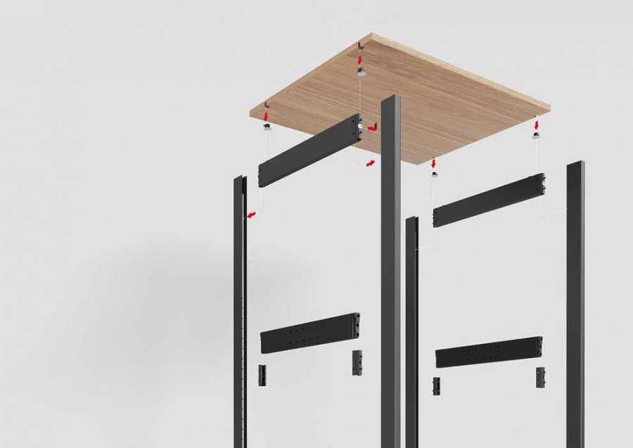 Sistema di accessori per armadi e cabine armadio DressCode di Häfele: facile da assemblare