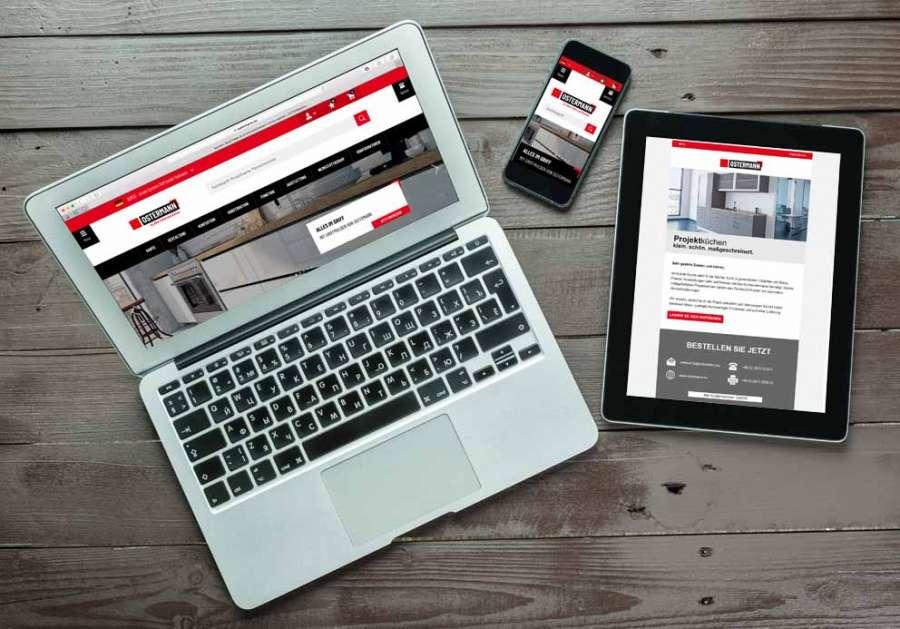 Numerosi i servizi online di Ostermann: l'app dedicata, i configuratori online e il canale video OstermannTV