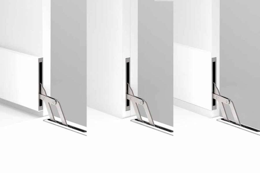 Unico, el mecanismo de puerta abatible disponible en tres configuraciones