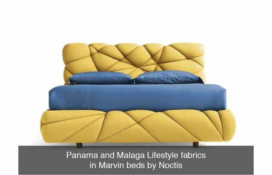 Carvico Lifestyle furnishing fabrics for the Marvin bed by Noctis