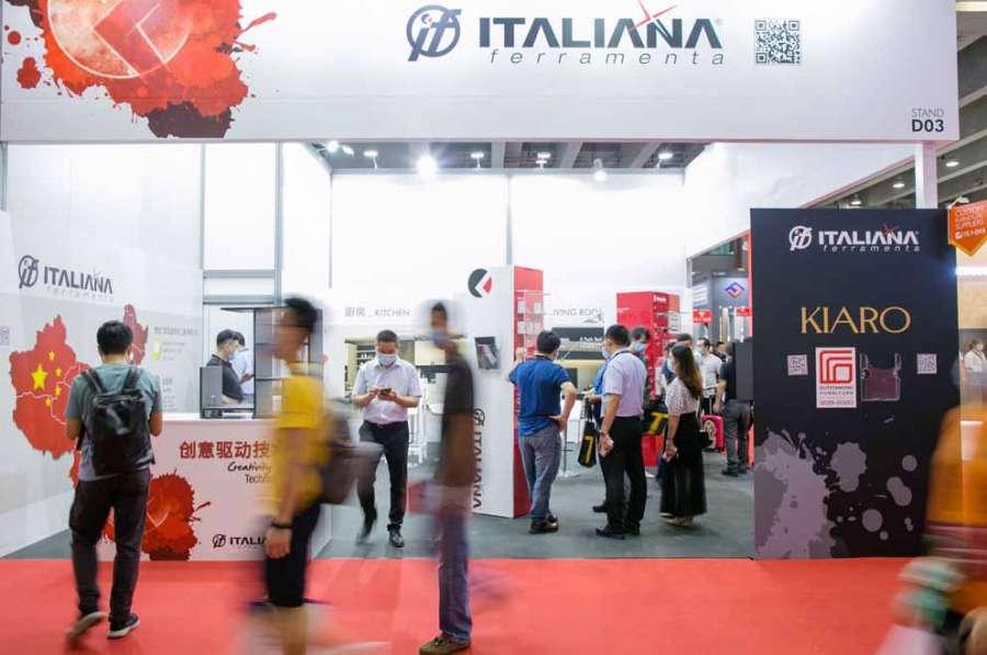 The stand of Italiana Ferramenta at CIFM/interzum guanzhou 2020