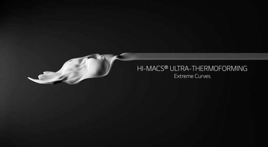 La surface solide HI-MACS® Ultra-Thermoformable de LG Hausys 0