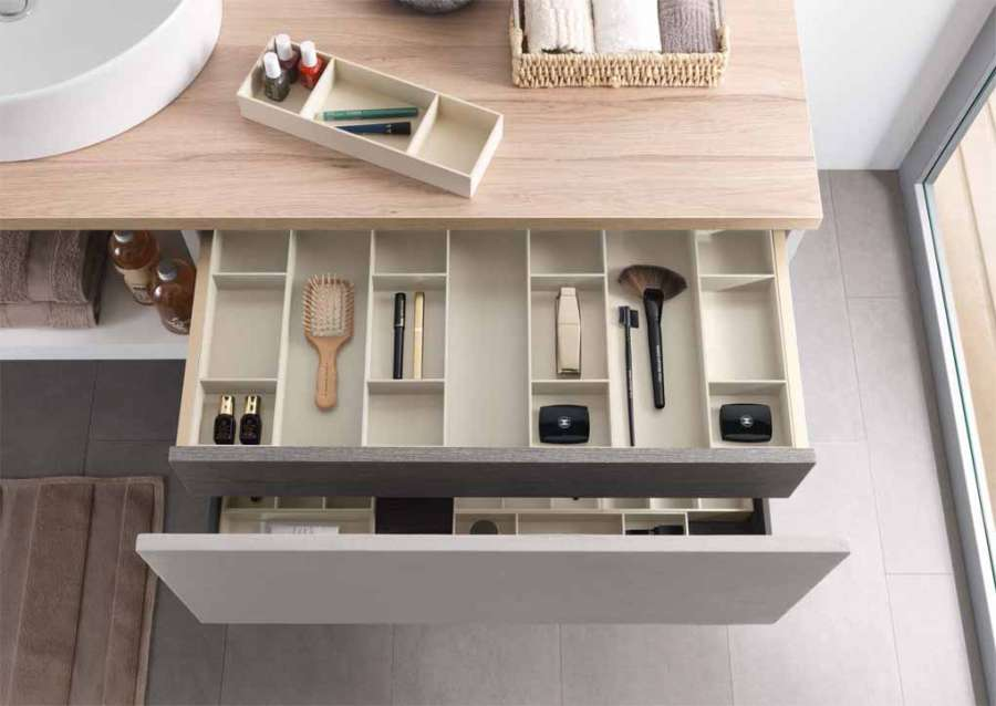Salice Split container system: optimizing the interior space of the drawers 0